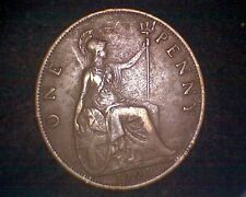 1901 GREAT BRITAIN ONE PENNY KM#790 INV#15844
