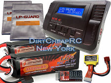 22.2V COMBO B680 Charger 11.1V 4800mah LiPo Battery Traxxas E-Revo E-Maxx Savage