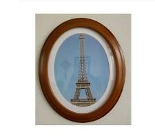 Oval Photo Frame Wall Decoration Ellipse Picture Frame Brown Wedding Gift