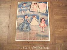 1951 Ideal BETSY WETSY Doll & Princess MARY Doll Catalog AD (Reproduction)