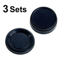 3X Rear + Body Lens Cap 6PCS NIKON Lens DSLR Camera Photo Studio Photography