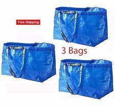 3PK IKEA Frakta Large Blue Reusable Bag Tote Recycling Shopping Travel Storage