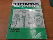 OEM Honda Service Manual 1992-1995 CR500R 61ML303