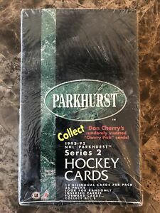 1992-93 Parkhurst Hockey Series 2 Wax Box Factory SEALED 36 Packs