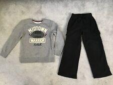 Boy's Jumping Beans Gray Fleece Shirt & Black Cargo Fleece Pants Size Xl (7X)