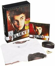 Justin Bieber Believe Uber Limited Deluxe CD / DVD + T-Shirt + Poster - NEW