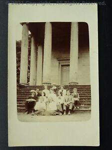 Yorkshire Rievaulx Abbey Terrace FAMILY PHOTOGRAPH ON STEPS c1905 RP Postcard