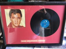 Elvis Picture with 78 record