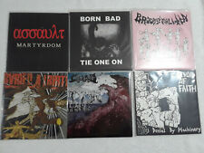 "30 grind punk 7"" EP lot Phobia Noisem Low Threat Profile Neolithic Reproach"