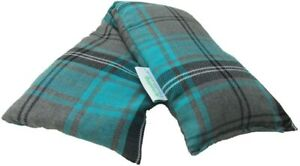Heat Pack Cotton Tartan Microwave Wheat Bag 46cm long (Unscented, Turquoise)