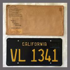 NOS 1963 CALIFORNIA Trailer License Plate DMV Clear YOM 1964 1965 1966 1967 1968