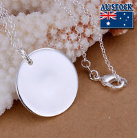 Wholesale Blank Polished 925 Sterling Silver Filled Dog Tags Pendant Necklace