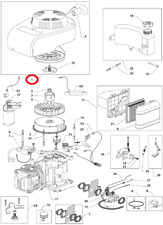 Mountfield SP536-ES RM55ES Engine Recoil Assembly Genuine Replacement Part