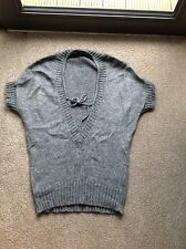 Grey Wooly Jumper With Tie