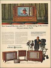 1962 Vintage ad for General Electric TV retro Television John Wayne   052417