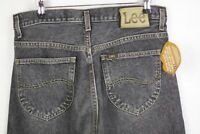 VINTAGE Mens LEE Riders Jeans STRAIGHT Fit BUTTON Fly FADED Black W32 L34 P7
