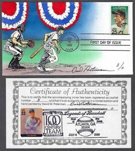 Peterman Hand Painted Baseball Slugger Lou Gehrig, Sc.#2417 F.D