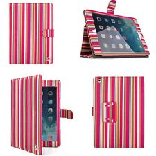 VanGoddy Leather Pink Stripe Smart Tablet Stand Case Cover for Apple iPad Air 2