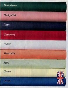 Large Plain Colour Fabric Tablecloth Table Cover Poly Cotton 68 Pick heavy