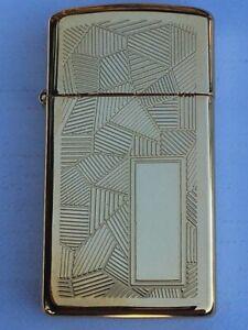 Zippo Feuerzeug SLIM Zeitlos Gold Plated aus 1992