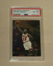Michael Jordan 1997-98 Metal Universe Card #23 PSA 8 NM-MT Bulls RARE