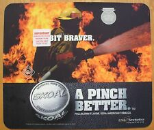 """2001 SKOAL FIREFIGHTER """"A PINCH BETTER"""" PLASTIC COUNTER MAT 17 X 14.5 NEW/UNUSED"""
