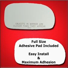 Mirror Glass Replacement + Full Adhesive For 95-02 Suzuki Esteem Passenger Side