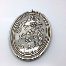 Reduced! 1972 Christmas Medallion Ornament By Towel Silversmiths