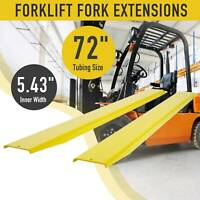 "72"" Forklift Pallet Fork Extension for Forklifts Lift Truck Slide on Steel/Clamp"