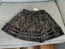 NWT Justice Black Sequin Skirt NEW SZ 12
