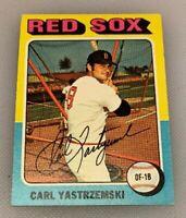 1975 Topps Mini Baseball Card # 280 Carl Yastrzemski Yaz Boston Red Sox HOF
