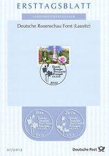 BRD 2013: Rosenschau in Forst! Ersttagsblatt Nr. 3012 mit Bonner Sonderstempel!