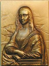 Renaissance Art Polymath Leonardo Da Vinci Painting Mona Lisa Bronze Medal M1