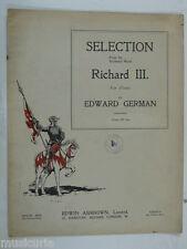 Piano Edward Selección Alemana De Richard Iii