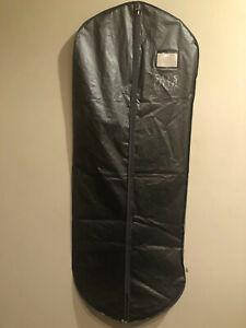 Vintage Saks Fifth Avenue Gray Lightweight  Full LengthPlastic/Vinyl Garment Bag