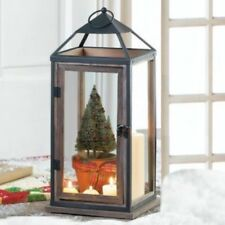 Extra Large Lantern Rustic Wood Iron Candle Holder Tall Wedding Centerpiece
