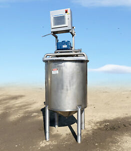 150 Gallon Todd Street Stainless Steel Mixing Tank, Controller, Motors, & Paddle