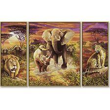 SCHIPPER 609260520 Malen nach Zahlen Afrika die großen fünf Triptychon 50x80cm