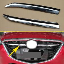 Chrome Grill Cover For Mazda3 BM 2014-2016 Grille Trim Strips Accessories