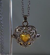 Gunmetal & Gold Heart Harmony Chime Ball Pendant w/Chain