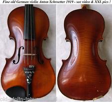 OLD German MASTER VIOLIN A. SCHROETTER 1919- video ANTIQUE バイオリン скрипка 小提琴 804