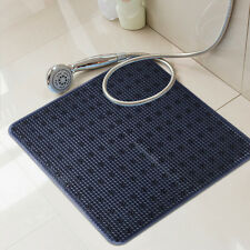 "Durable 21""X21"" Anti Slip PVC Bath Mat Square Bathtub Massage Mat Dark Navy"