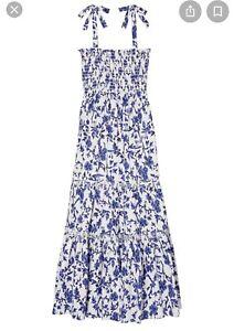 NWT Tory Burch Tie-Shoulder Maxi Dress XS