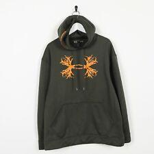 Vintage UNDER ARMOUR Big Logo Polyester Hoodie Sweatshirt Green Medium M