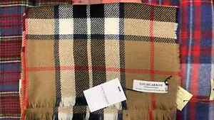 95% Wool - 5% Cashmere Stole | Lochcarron | Made in Scotland | Camel Thomson