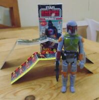 Vintage Star Wars Boba Fett with Reproduction Popy box and Leaflets