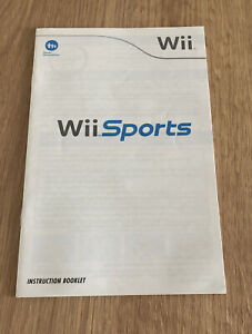 Nintendo Wii Sports Instruction Booklet Manual Good Condition