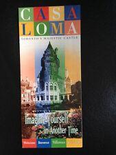 Casa Loma Toronto's Majestic Castle, Canada Vintage Brochure - Rare