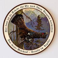 Auerhahns Minnelied Federwild Auerhuhn Schützenscheibe 55cm Wunschtext 86