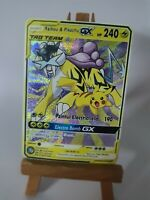 Raikou and Pikachu Pokemon GX Tag Team Custom Card In Holo Proxy